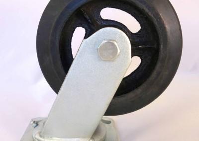6x2 Moldon Rubber Wheel Casters